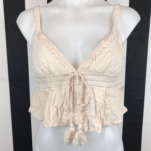 5 for $25 Forever 21 Cream Crochet Trim Crop Top